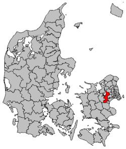 kort over roskilde kommune