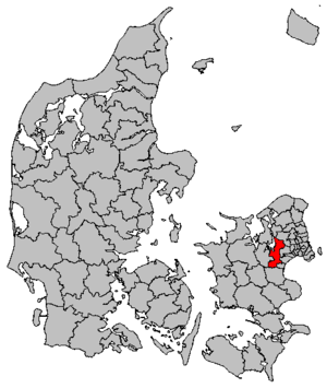 Roskilde Municipality - Image: Map DK Roskilde