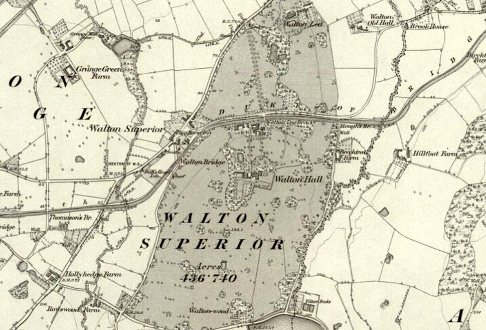 Map Walton Hall Warrington 1882