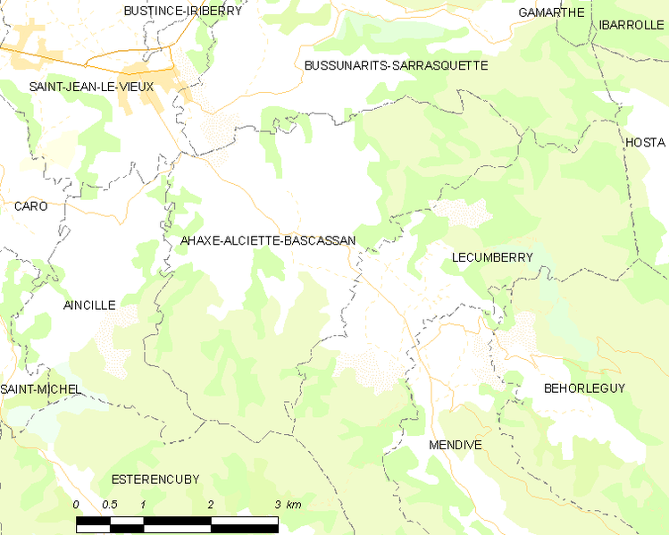 Fil:Map commune FR insee code 64008.png