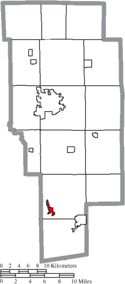 Location of Perrysville in Ashland County