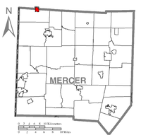 Map of Jamestown, Mercer County, Pennsylvania Highlighted.png