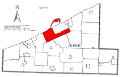 Map of Millcreek Township, Erie County, Pennsylvania Highlighted.png