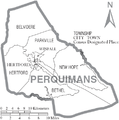 Map of Perquimans County North Carolina With Municipal and Township Labels.PNG