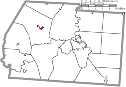 Location of Frankfort in Ross County