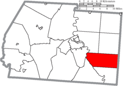 Location of Liberty Township in Ross County