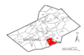 Map of Schuylkill County, Pennsylvania Highlighting South Manheim Township.PNG