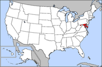 Map of USA highlighting Maryland