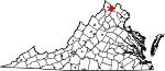 State map highlighting Clarke County
