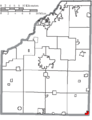 Map of Wood County Ohio Highlighting Fostoria City.png