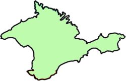 Location of Krymo liaudies respublika