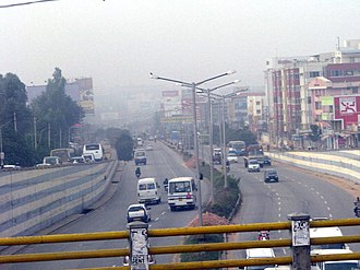 Outer Ring Road, Bangalore - Outer ring road seen from Marathalli bridge.
