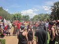 March Against Monsanto end at Jackson Square New Orleans Flagpole.JPG