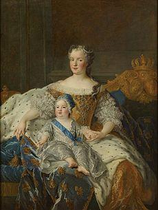 Queen Marie Leszczyńska with the dauphin Louis