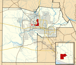 Maricopa County Incorporated and Planning areas Glendale highlighted.svg