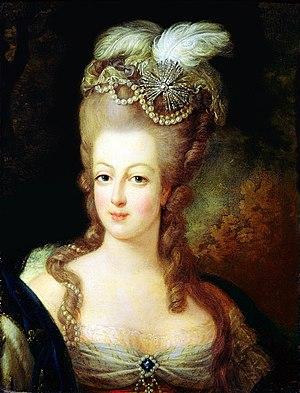 Décolletage - Image: Marie Antoinette, 1775 Musée Antoine Lécuyer 2