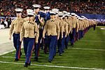 Marines stand together to unfurl Old Glory at 38th annual Holiday Bowl 151230-M-HF454-001.jpg