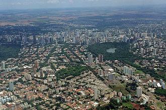 Maringá - Aerial view of downtown Maringa