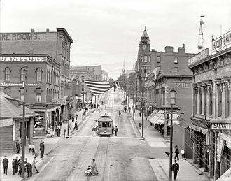 Marquette, Michigan - Front Street in downtown Marquette, 1909