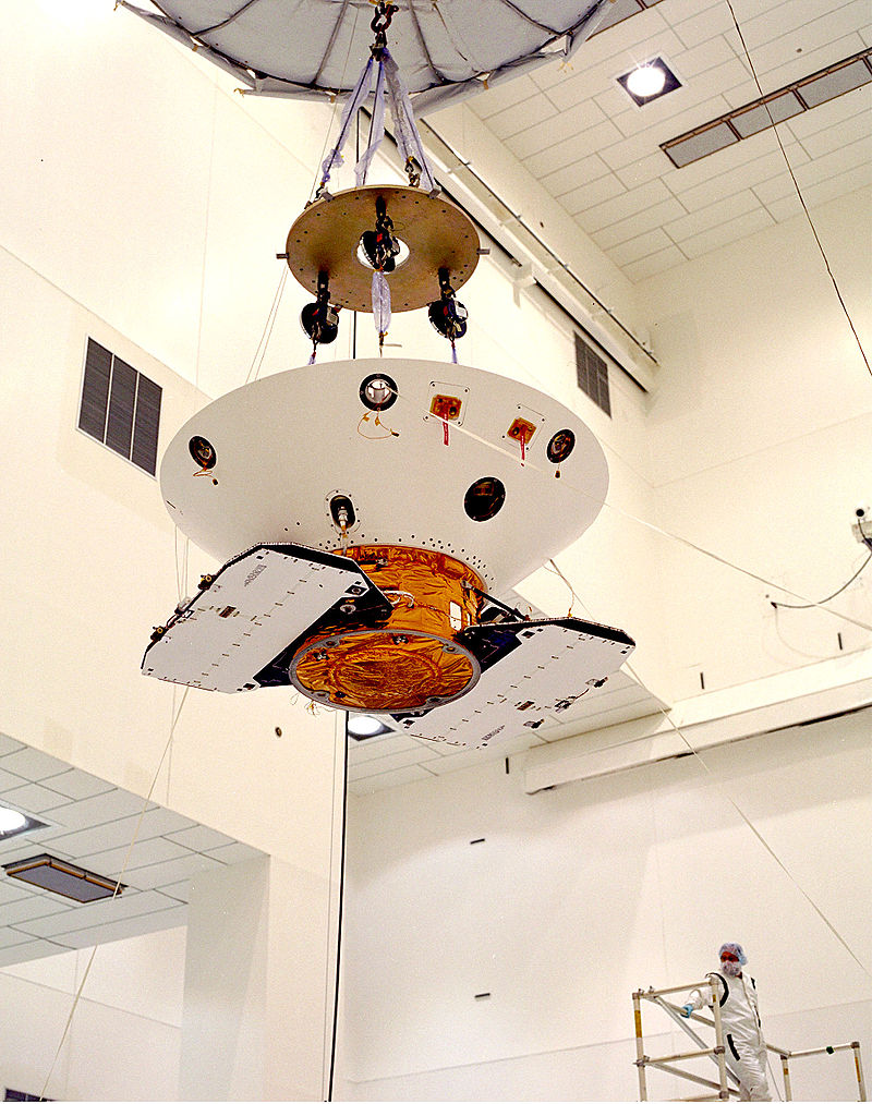 Mars Polar Lander in aeroshell.jpg