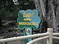 Marsh crocodile Sign board from Bannerghatta National Park 8602.JPG