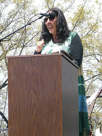 Mary Ann Vecchio - Mary Ann Vecchio speaking at Kent State University in May 2009
