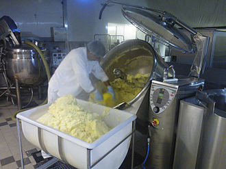 Mashed potato - Image: Mashed Potatoes in Steam jacketed Combi Kettle