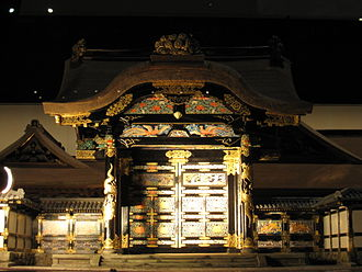 Kamiyashiki of Matsudaira Tadamasa - 1:30 architectural model of the gate reserved for high visitors, in the Edo-Tokyo Museum