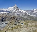 Matterhorn and Riffelhorn as seen from Gornergrat, Wallis, Switzerland, 2012 August.jpg