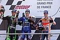 Maverick Viñales, Johann Zarco and Dani Pedrosa 2017 Le Mans.jpg