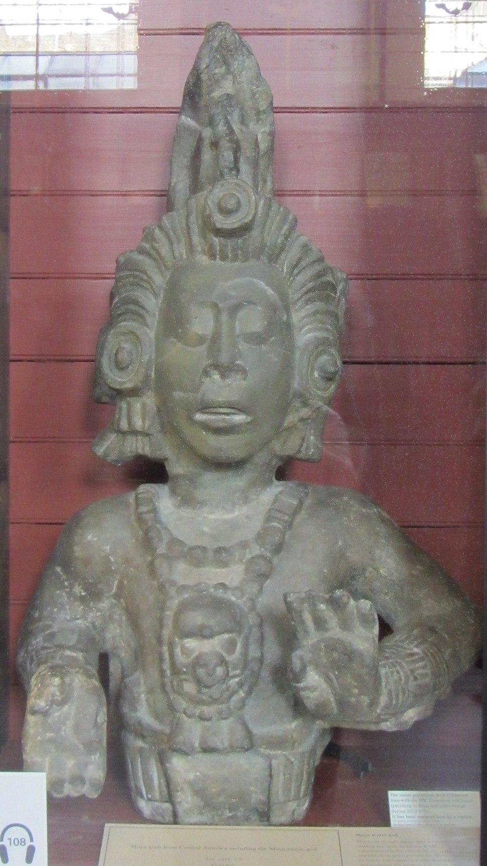 Maya maize god statue