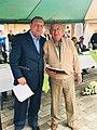 Mayor Gustavo Pareja with supporter.jpg