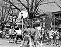 Mayor Raymond L. Flynn playing basketball (10086065734).jpg