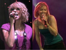 The current line-up of Atomic Kitten: Liz McClarnon and Natasha Hamilton