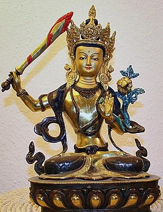Kathmandu - Manjushree, with Chandrahrasa, the Buddhist deity said to have created the valley