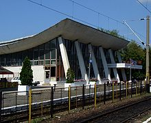 Mediaş (Mediasch, Medgyes) - train station.JPG