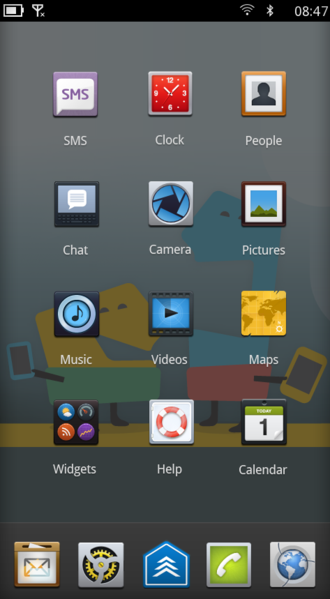 "MeeGo - Handset UX from MeeGo 1.1 ""Day 1"""
