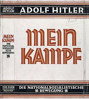<i>Mein Kampf</i> Autobiographical manifesto by Adolf Hitler