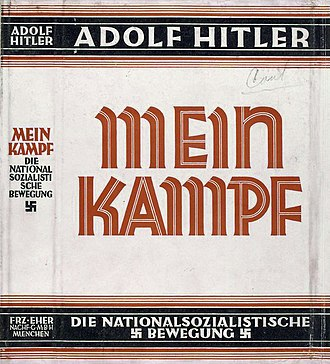 Mein Kampf - Dust jacket of 1926–1928 edition