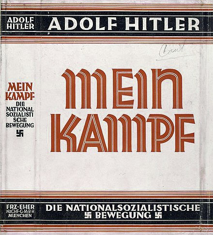 Dust jacket of Mein Kampf (1926–28 edition)