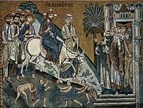 'The Entry of Christ into Jerusalem' mosaic by...