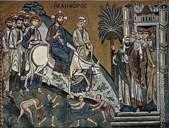 Mark 11 - Einzug Christi in Jerusalem by Meister der Palastkapelle