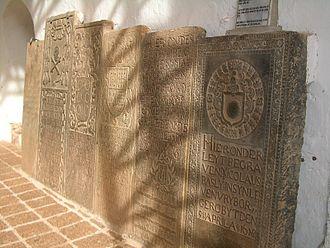 Dutch Malacca - Dutch graves in the ruined St Paul's Church.