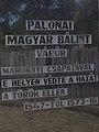 Memorial wall, Bálint Palonai Magyar plaque, Fort Fonyód, 2016 Hungary.jpg