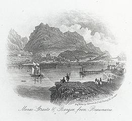 Menai Straits & Bangor from Beaumaris