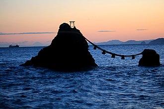 Meoto Iwa - Image: Meoto iwa and Mount Fuji