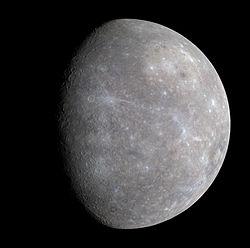 Mercure vue par la sonde MESSENGER,le 14 janvier 2008.
