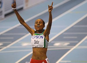 Meseret Defar - Defar at the World Indoor Championships in 2008