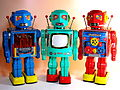 Metal House Battery Operated New 2010 Robots You are Three Times a Robot~~.jpg