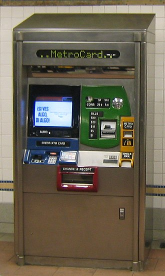 MetroCard (New York City) - MetroCard Vending Machine